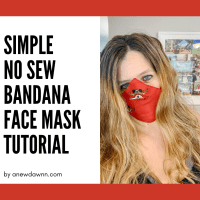 DIY Fabric Face Masks  - How to Make a No Sew Face Mask