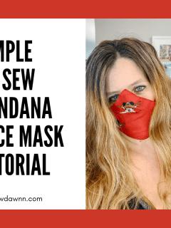 No Sew Bandana Mask Tutorial