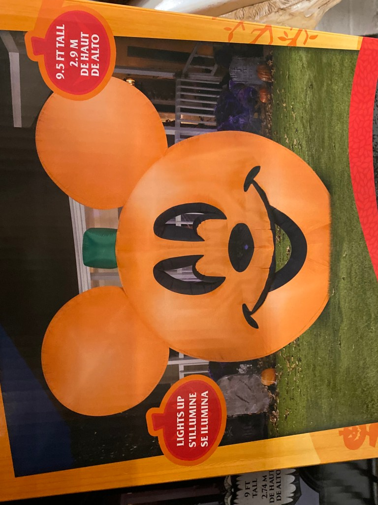 Giant Mickey Pumpkin Inflatable
