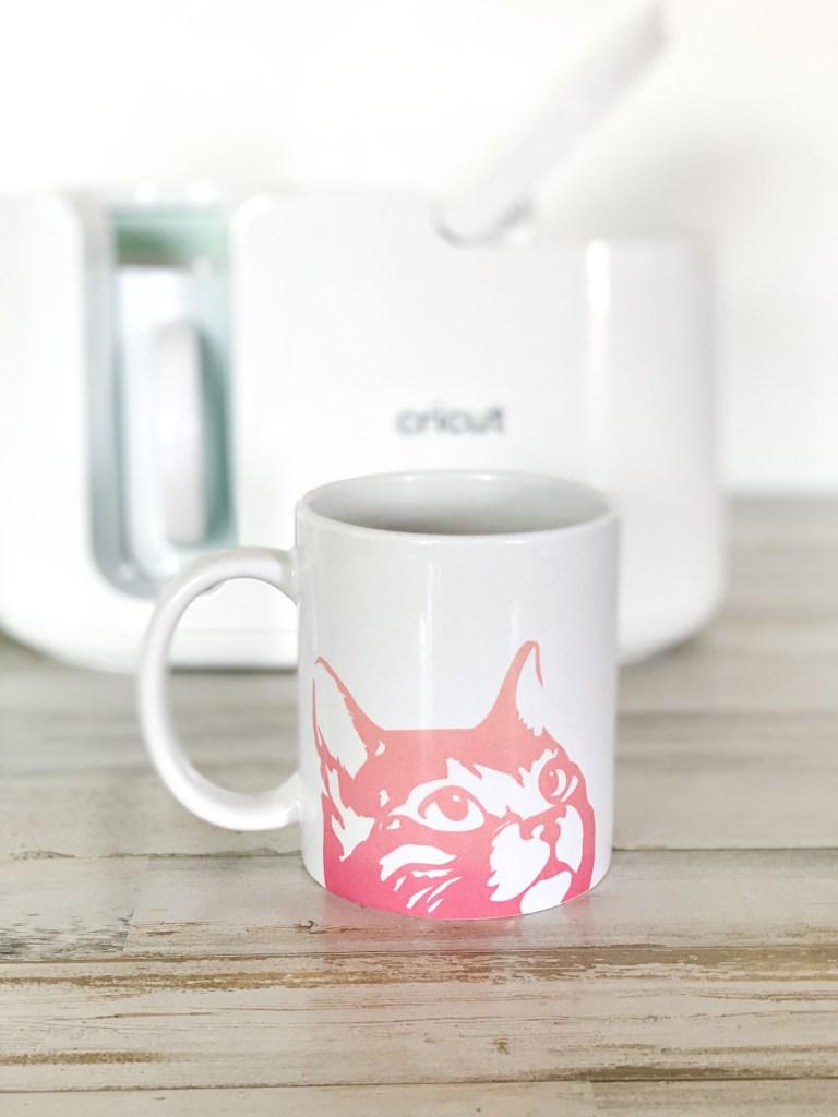 cricut mug press and cat mug