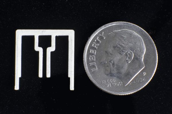 Single Aereo antenna, smaller than a dime