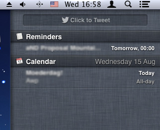 Mountain Lion Notification Center: you can't customize it