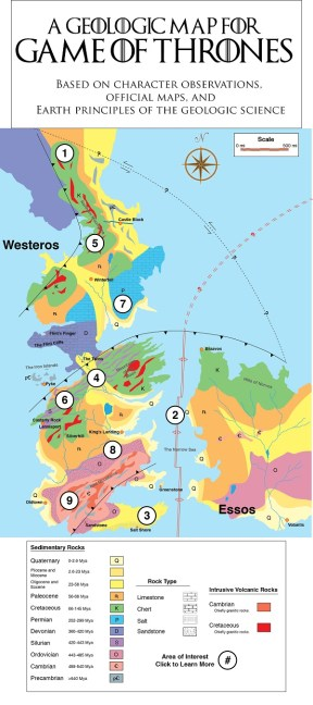 Game of Thrones Map Courtesy of Stanford University
