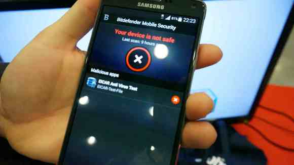 unsafe app warning bitdefender MWC 2015