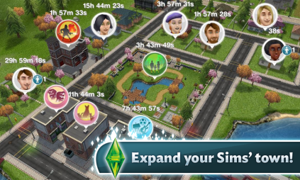 The Sims Freeplay town