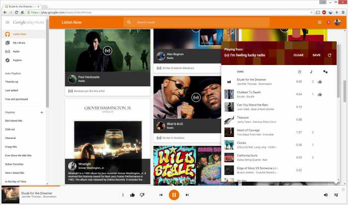 google play music all access feeling lucky randomizer