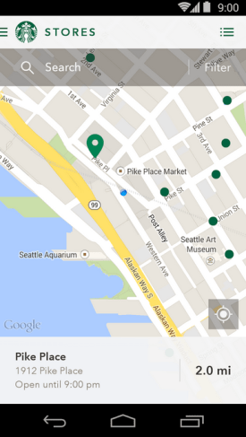 starbucks for android store locator