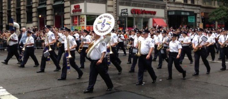 new york city pride parade 2015 nypd marching band