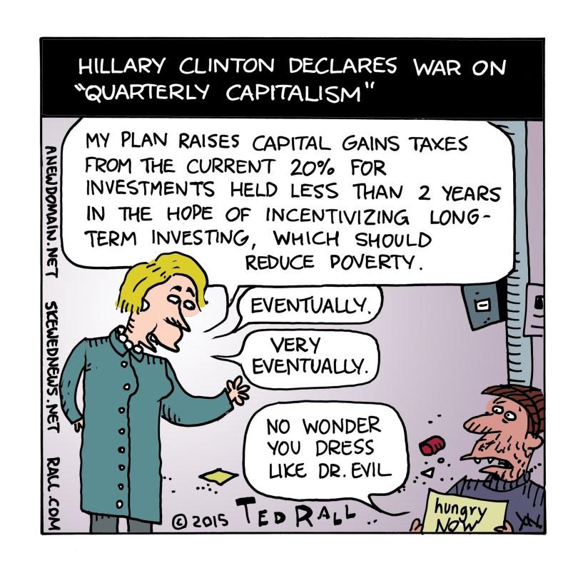 Hillary Clinton cartoon