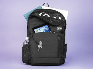 Genius Pack Intelligent Travel backpack with stuff inside