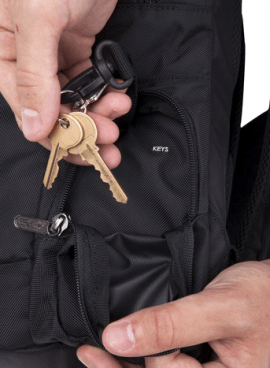Genius Pack Intelligent Travel backpack keys
