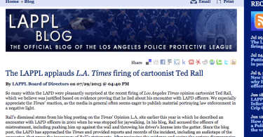 la police union ted rall lappl lapd tape