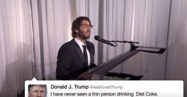 josh groban singing donald trump's tweets