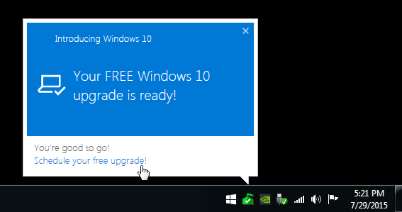 how to upgrade windows 7 to windows 10 first window