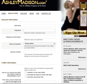 ashley madison affiliate form