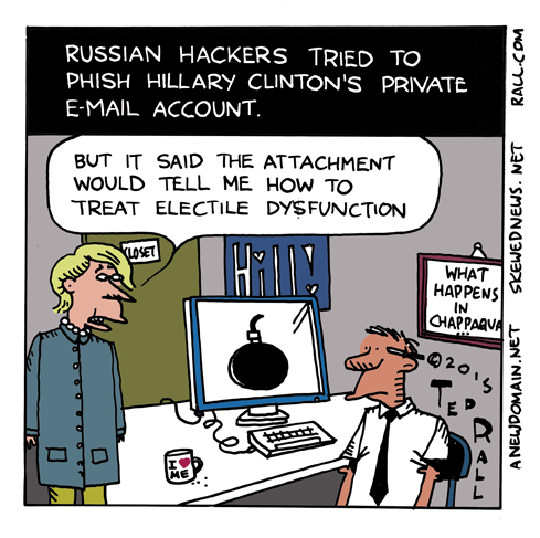 ted rall hillary clinton email hillary hack electile dysfunction