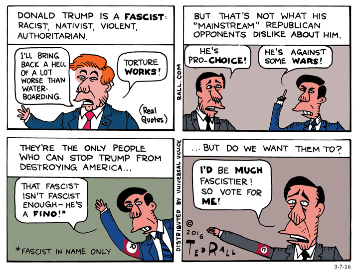 Ted Rall Donald Trump cartoon