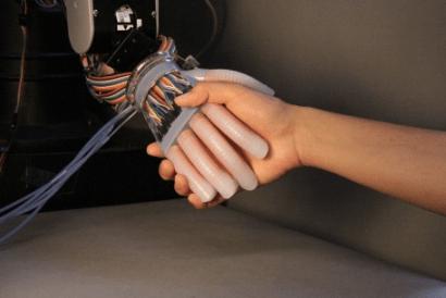 gentle bot soft hand cornell robert shepherd robotic AI soft hand