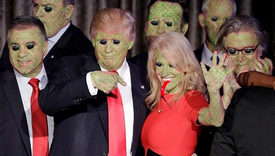 donald trump team reptilians