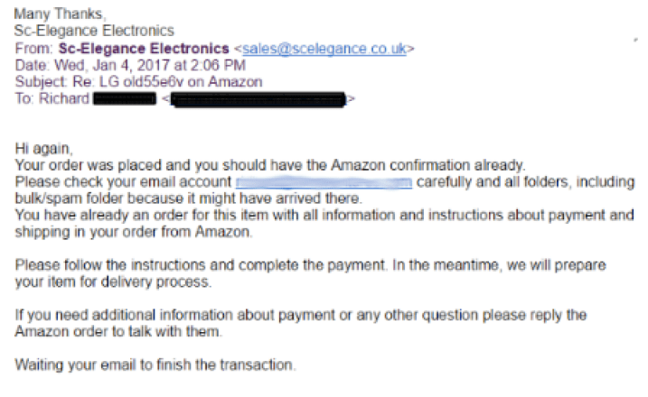 amazon seller scam