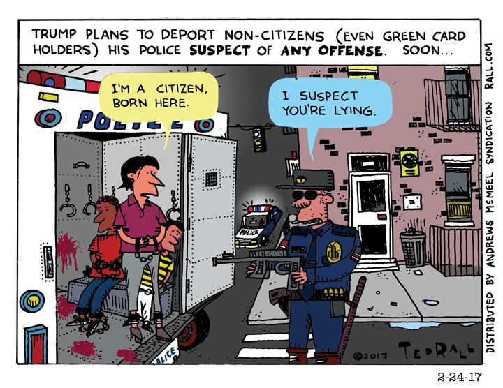 Ted Rall cartoon