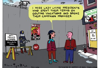 lazy, lying presidents donald trump ted rall cartoon