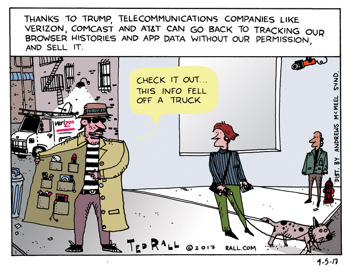 Ted Rall information privacy internet privacy