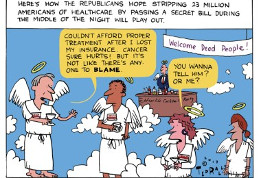 ted rall cartoon trumpcare