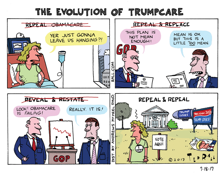 evolution of Trumpcare