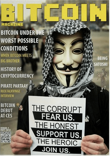 history of bitcoin anonymous