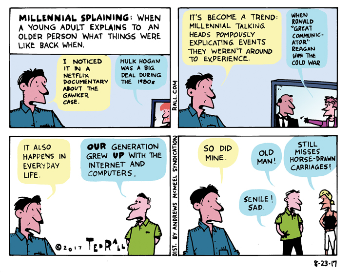 Ted Rall: Millennial Splaining -- Explained