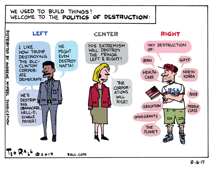 Ted Rall: We Used to Build Things, Remember? [cartoon]