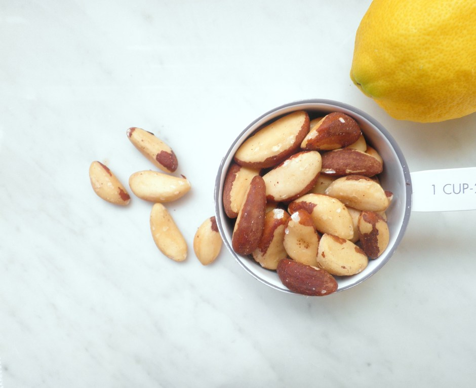 brazil nuts and lemon