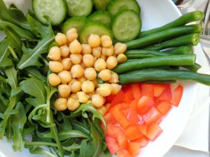 Chickpea and Green Bean Lunch Bowl