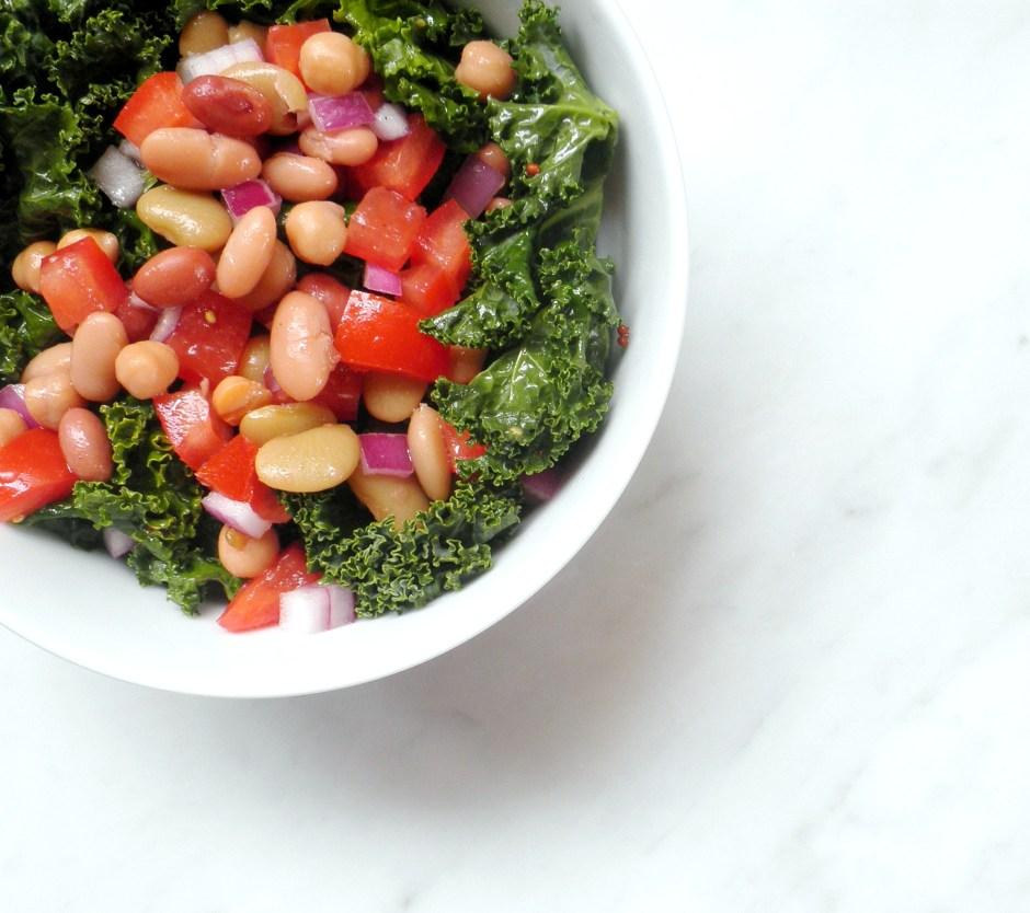 Kale and Mix Bean Salad