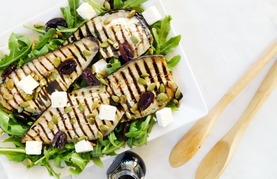 Griddled Eggplant Salad