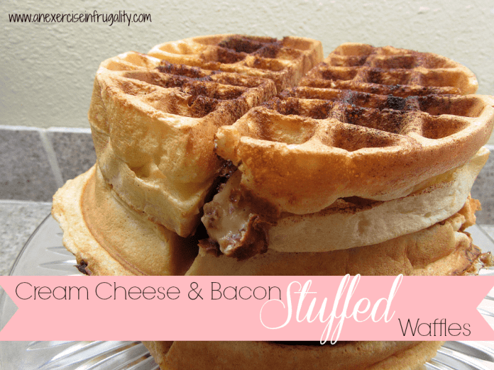 Cream Cheese and Bacon Stuffed Waffles