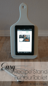 DIY Easy Recipe Tablet Stand