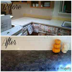 Kitchen Makeover Series Part 2: Faux Granite Countertops