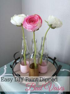 Easy DIY Paint-Dipped Bud Vases