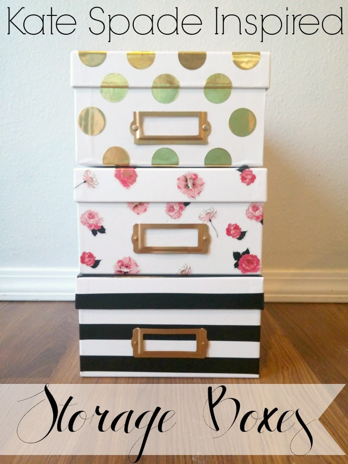 Kate Spade Inspired Storage Boxes Tutorial
