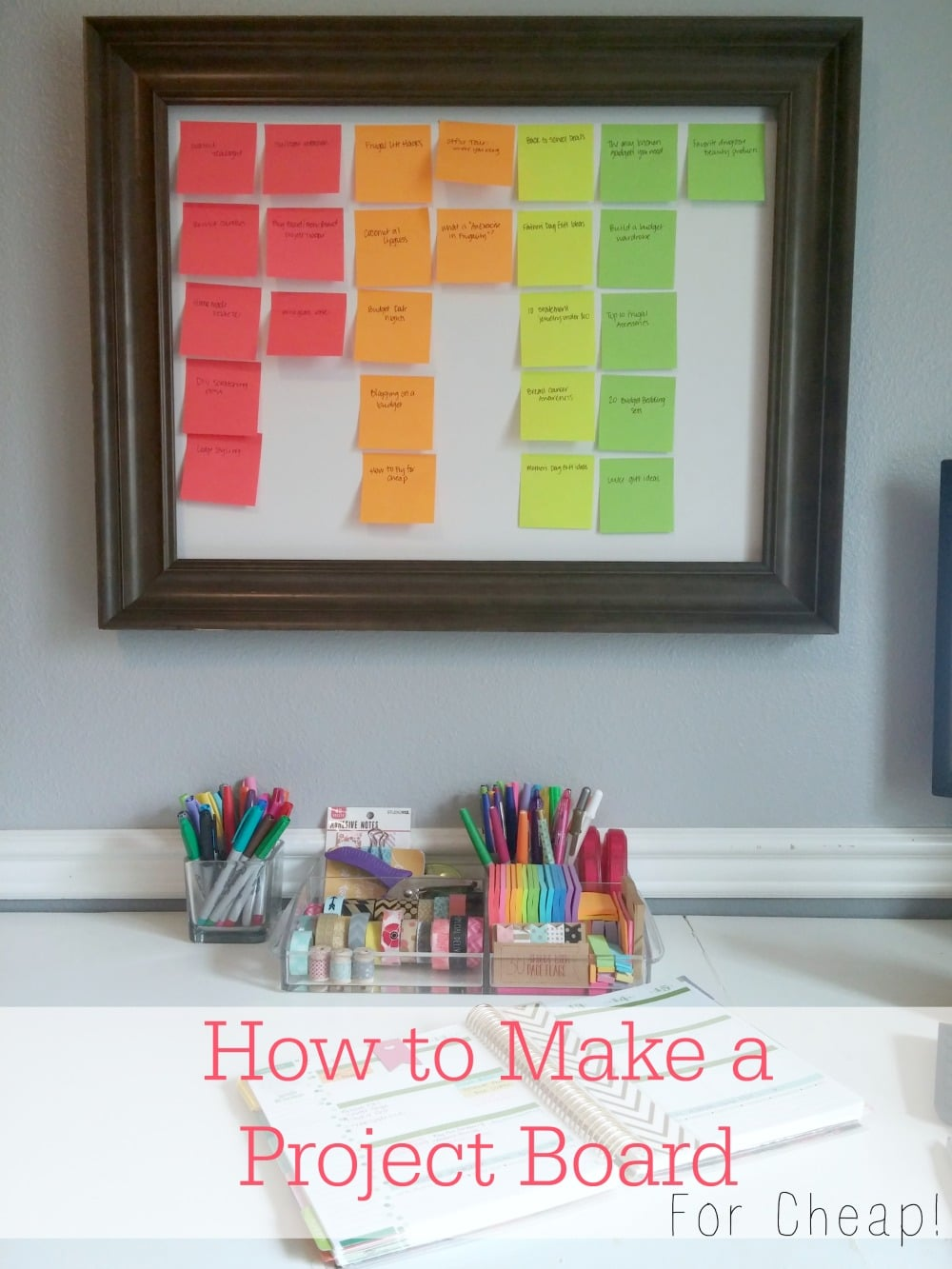 how to make a blog project board