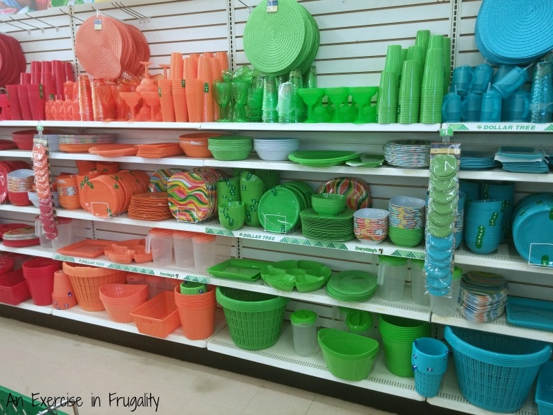 dollar tree patio party ware