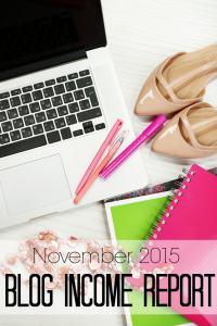 November 2015 Blog Income Report