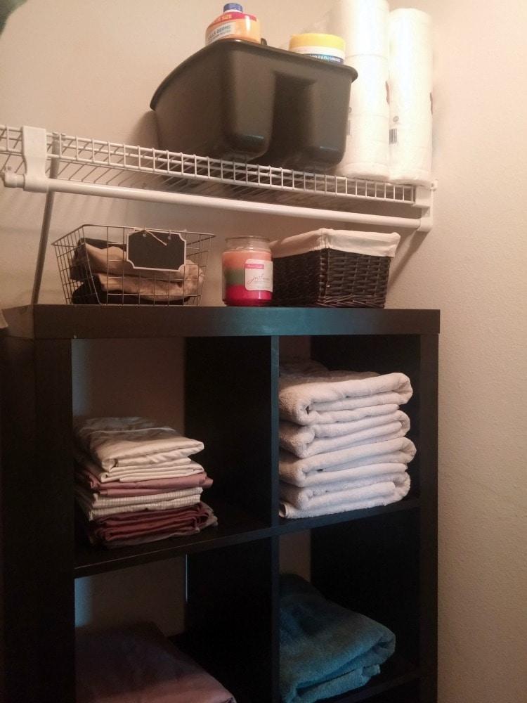 master linen closet organization