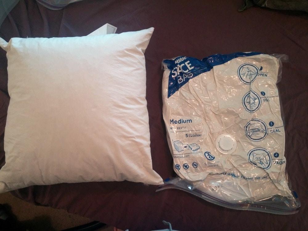 space bag pillow