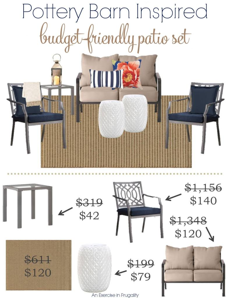 Pottery Barn Inspired Budget Patio Set