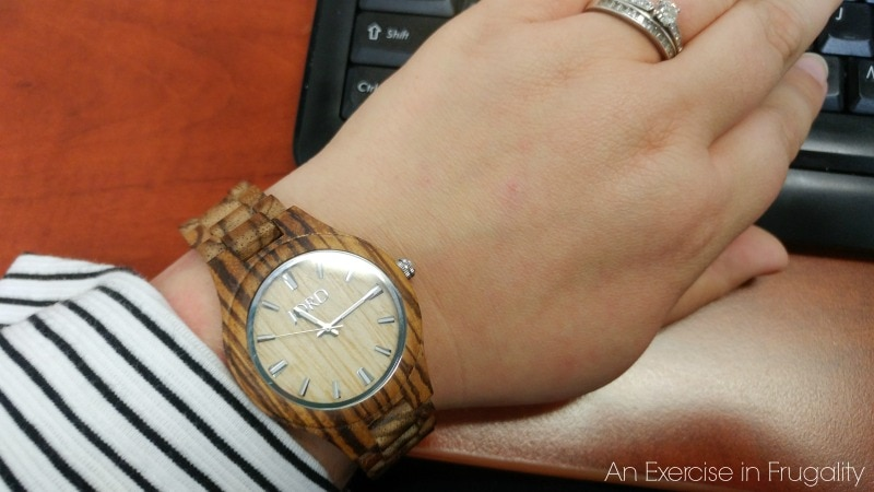 JORD Wood Watch Fieldcrest in Zebrawood and Maple. SO pretty and goes with everything!