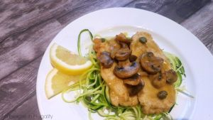 Chicken Scallopini with Zoodles: The New Comfort Food