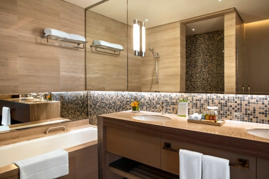 suite bathroom-bathtub&shower - Downtown Rotana